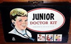 Other Vintage and Antique Toys 30: Vintage 1960 S Doctor Medical Kit Hasbro Complete Excellent Set Old Store Stock -> BUY IT NOW ONLY: $55 on eBay!