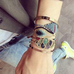"Color Paisley Bracelet by ""Tatiana Choremi"""
