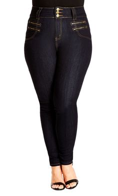af596701b546c Double front zips power these jeans into style overdrive