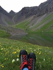 """""""New Shoes! S.O.M. (Sense of motion) , light as a feather ! Comfy as slippers, great performance ! Made in Montrose, CO. Love em !""""  B.K. - Owner, OPUS Hut, Ophir, CO"""