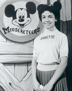 "ANNETTE FUNICELLO debuted as a Mouseketeer in October Walt Disney saw her performing the lead role in ""Swan Lake"" at her ballet school's recital and asked her to audition for the Mickey Mouse Show. Annette Funicello, Before I Forget, Before Us, Walt Disney, Disney Magic, Disney Art, Disney Fantasy, Jim Henson, Sweet Sixteen"