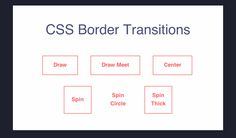CSS Border Transitions, #Border, #Buttons, #Code, #CSS, #CSS3, #Hover, #HTML, #HTML5, #Resource, #SCSS, #Snippets, #Transition, #Web #Design, #Development