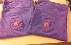 Comfort Color Monogram Anchor Pocket Tees by The Initialed Life