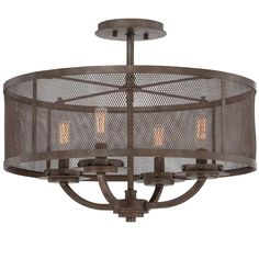 Screened-In Industrial Ceiling Light
