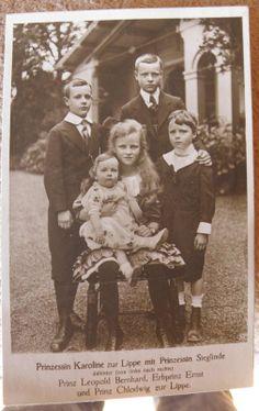 Prinz. Karoline zur Lippe mit ihren Geschwistern