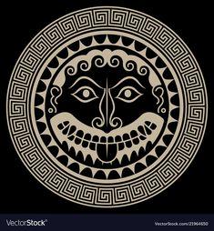 Polynesian Tattoo Sleeve, Sleeve Tattoos, Bourbon, Greece Tattoo, Sister Tat, Straw Art, Shield Design, Medusa Head, Greek Art