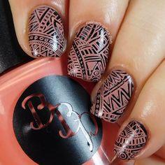 Bad Bitch Polish - Zinnia - a coral-y orange creme stamping polish. #prsample #badbitchpolish #stampingpolish #indiestampingpolish #nails #nailart