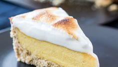 Vegan apricot meringue pie