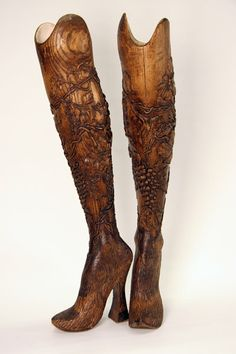 Prosthetic legs created by Alexander McQueen for Aimee Mullins. The LA Times has a great article on customized prosthetics.