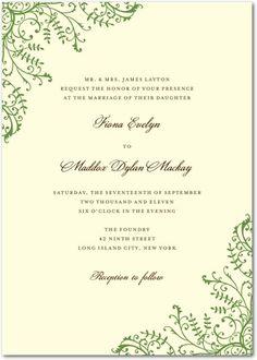 Fine Filigree Wedding Invitations - a little too formal? $1.64