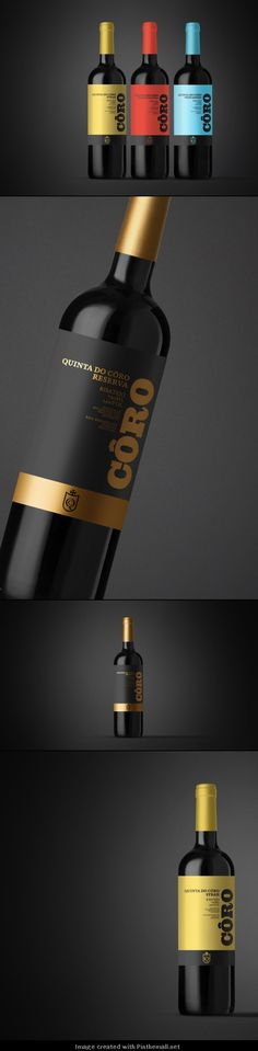Concept: Quinta do Côro Packaging Design, Branding Design, Wine Label Design, Wine Brands, Wine Decor, Vine Design, Bottle Packaging, Wine Labels, Wine And Spirits