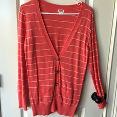 Target Coral Cardigan Sz Small Worn once. Perfect condition cardigan from Target. Sz. Small. See other listings for same cardigan in other colors. Target Sweaters Cardigans