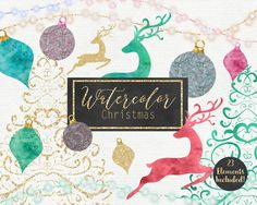 WATERCOLOR CHRISTMAS CLIPART Commercial Use Clip by ClipArtBrat
