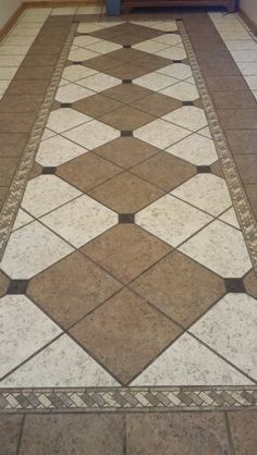 Tiled Foyer Traditional Entry Around The House Pinterest - Custom cut ceramic tile