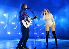 """Beyonce and Ed Sheeran joined forces at the 2015 Global Citizen Festival on Sept. 26, to sing Bey's hit """"Drunk In Love"""" -- watch the acoustic duet!"""