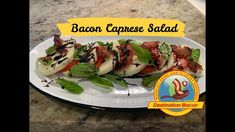 Bacon Videos, Best Bacon, Bacon Recipes, How To Make Salad, Summer Salads, Caprese Salad, Sushi, Classic, Ethnic Recipes