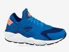 Nike Air Huarache Homme Gym Bleu / Mango Nike Air Huarache Homme