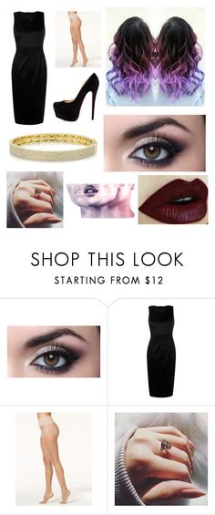 """""""****"""" by isabella3612 ❤ liked on Polyvore featuring Boohoo, Christian Louboutin, Hue, Anne Sisteron and Smashbox"""