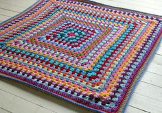 Check out this item in my Etsy shop https://www.etsy.com/uk/listing/99443014/crochet-afghan-blanket-rainbow-colors