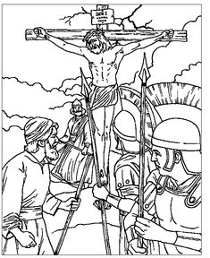 Jesus Crucifixion  Easter  Pinterest  2 Coloring sheets and