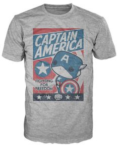 Pop! Tees: Marvel - Captain America