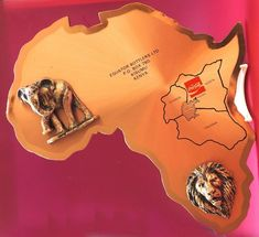 Vintage Copper Map of Africa Kenya Coca Cola Collectable Africa Map, Kenya, Coca Cola, Badge, Copper, Vintage, Coke, Brass, Vintage Comics