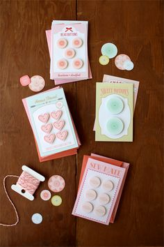 FREE printable button card valentines {a field journal}