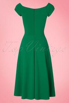 Vintage Chic Green Swing Dress 102 40 21758 20170410 0002W