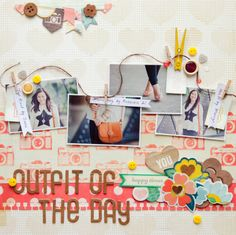 #papercraft #scrapbook #layout    OOTD by Evelynpy