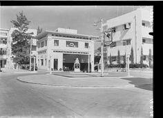 תחנת דלק ברחוב אלנבי, תל אביב, 1939