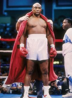 George Foreman. Oldest man to ever hold the World Heavyweight Championship.