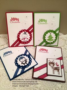 stampin' up!   christmas cards using No Peeking  www.tammydowney.blogspot.com  www.lovetocreate.stampinup.net