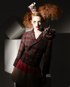 2010 collection inspired by Alice in Wonderland Hair & image by Doug Hobbs Photography by Simon Powell Make-up by Inma Azorin Clothing styled by Lou at Ruined