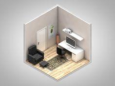 Isometric corners of my life by Petr Kollarcik, via Behance #digital art, #game design