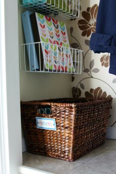 Returns basket: A place for things to  return to the store or to someone after having borrowed it.