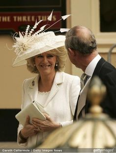 Prince Charles and Camilla Parker Bowles on their wedding day, April 9, 2005.