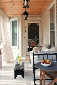 Great porch for a nap - great idea for the smaller covered porch area