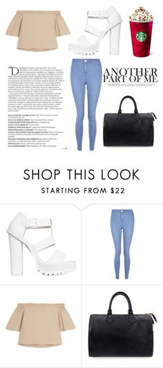 """""""Sem título #602"""" by lostmahomie on Polyvore featuring moda, Nly Shoes, New Look, TIBI, Balmain e Louis Vuitton"""