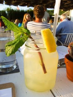 Ginger Mint Lemonade Cocktail, Byron at the Surf Lodge, Montauk