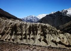 Sand Structure in the spectacular cold desert Spiti