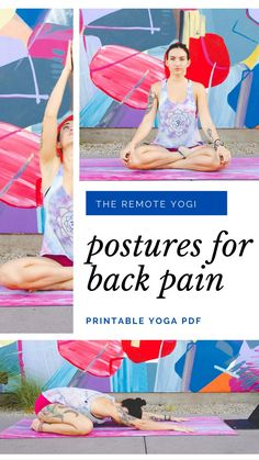 Lower Back Pain Exercises, Scoliosis Exercises, Fitness Workout For Women, Yoga Fitness, Yoga Sequences, Yoga Poses, Yoga Terms, Yoga Positions, Restorative Yoga