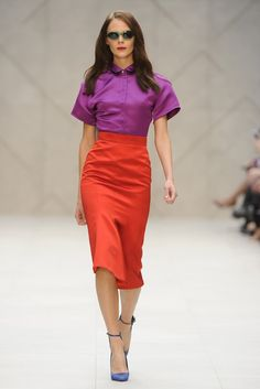 purple & red: Burberry Prorsum RTW Spring 2013 - Runway, Fashion Week, Reviews and Slideshows - WWD.com