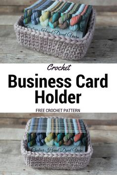 Crochet Business Card Holder: FREE Crochet Pattern – Chaleur Life
