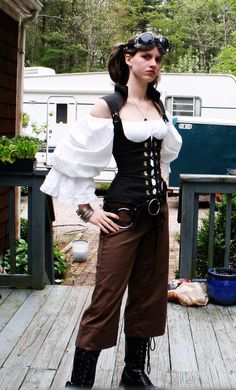 SteamPunk Outfit by ~UnknownAndInsane29 on DeviantArt