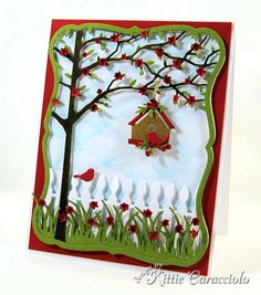 Framed Tree and Birdhouse by kittie747 - Cards and Paper Crafts at Splitcoaststampers