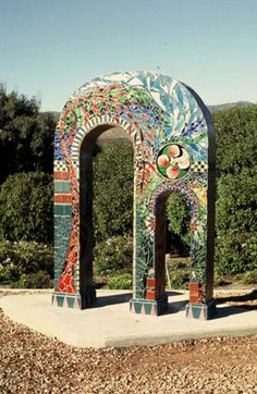 Collette Crutcher's Mother and Child Arch at the City Dump features recycled materials  found at the Dump Station.