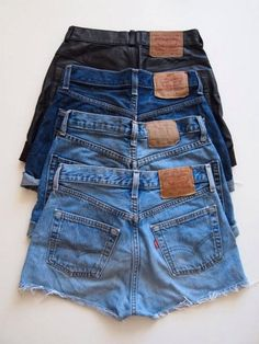 High Waisted Denim Shorts by TheHipstersParadise on Etsy, $13.00