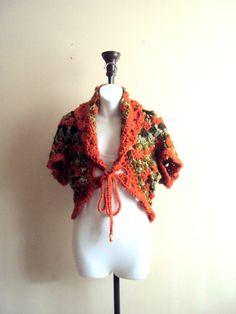 Chunky Cocoon Shrug Crochet Boho Shrug Granny Square Shrug Cardigan Gypsy Shrug Hippie Style Bolero Women Fashion Gift Ideas by GrahamsBazaar