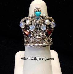 Here's a unique sterling silver crown ring located at our Tuckerton store! Only $170.00!