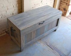Hope Chest/ Wooden Chest/ End of Bed Bench/ by LooneyBinTradingCo
